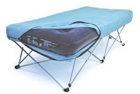 Great Inflatable Guest Air Bed Mattress on Stand with Legs on
