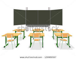 classroom table vector. vector illustration of an empty classroom table n