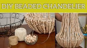diy home decor beaded chandelier you regarding wood bead diy prepare 10