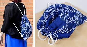 drawstring bag finished