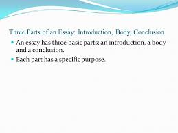 three parts of an essay introduction body conclusion ppt  three parts of an essay introduction body conclusion