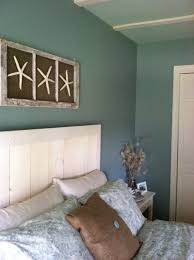 Small Picture Beach Theme Guest Bedroom with DIY Wood Headboard Wall Art and