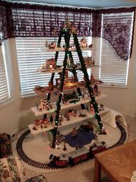 unusual design ideas christmas train decoration indoor my ladder with christ at the center as he