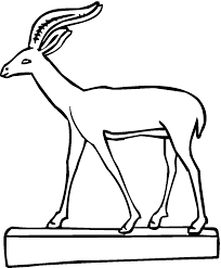 Small Picture Free Gazelle Coloring Pages