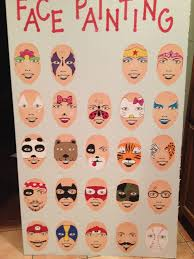 easy face painting ideas printable