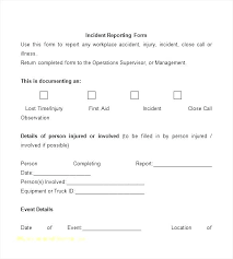 Test Incident Report Template Incident Management Procedure Document