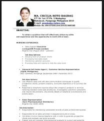 resume for call center amusing resume for call center agent no experience  on best resume font
