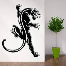 image is loading wild animal black panther wall art sticker decal  on black panther animal wall art with wild animal black panther wall art sticker decal themed room large