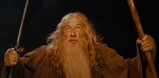 Sir Ian McKellen delivers iconic Gandalf line from the Lord of the.