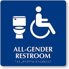 Handicap Bathroom Signs Best All Gender Restroom Braille Sign Handicap And Toilet Symbol SKU