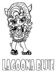 Print Lagoona Blue Little Girl Monster High Coloring Page Or