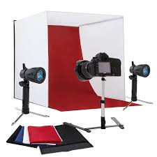 mecor 24 portable table top photo studio photography box tent backdrop kit cube lighting kit in a box w 4 color backdrops com