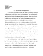 history final paper modernization zena haddad m w  6 pages modernization essay