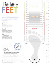 Big Kids Shoe Size Chart Kids Shoe Size Chart Fit Little Feet Download Printable