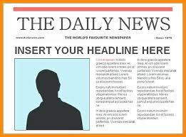 Newspaper Report Template Microsoft Word Newspaper Template Microsoft Word Arcgerontology Info