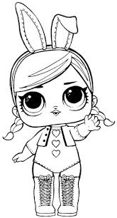 Very Simple Lol Doll Coloring Pages Lol Doll Coloring Pages Lol