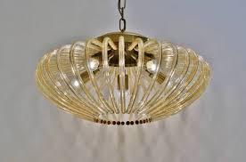 venini pendant light large size glass brass 1950 s italian