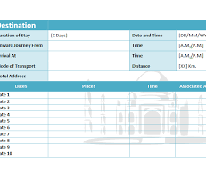 Itinerary Sheet Travel Itinerary Template My Excel Templates