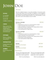 Free Resume Templates For Free Word Resume Template With Free Resume