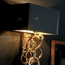 contemporary italian lighting. Luxury Contemporary Italian Gold Wall Lamp Lighting
