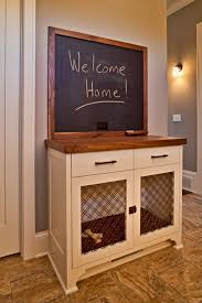 furniture pet crate. D.T. Carlson Co. Transformed This Lovely Entry Room Table With A Built In Chalkboard Into Functional Dog Crate So The Pup Can Be First Thing Furniture Pet O