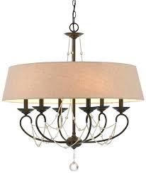 burlap drum lamp shade creative of drum chandelier with crystals modern burlap drum shade chandelier 6