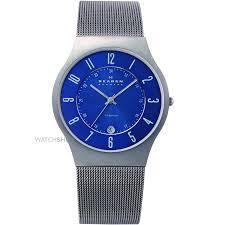 """men s skagen grenen titanium watch 233xlttn watch shop comâ""""¢ mens skagen grenen titanium watch 233xlttn"""