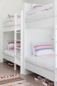 girls white bunk beds. Brilliant Beds White Girls Bunk Beds With Pink And Blue Striped Pillows For