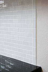subway tile backsplash edge. Brilliant Subway You Can Use A Schluter Metal Or Pvc Edge Do Like Said By Turning One  Tile Sideways As Soldier Course To Subway Tile Backsplash Edge T