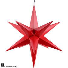 Haßlauer Weihnachtsstern Für Innen Und Außen Rot Inkl Beleuchtung 60 Cm