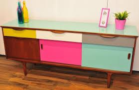 Vintage Modern Furniture From The Uk Retro Contemporary  Mod Long Rainbow Cupboard SitesorCom