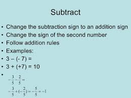 Integers Examples Rules For Integer Operations