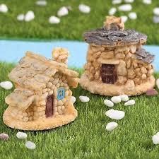 fairy garden castle. Miniature Gnomes House DIY Micro Stone Castle Fairy Garden Ornaments Figurines