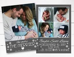 The More The Merrier Christmas Card Birth Announcement Christmas