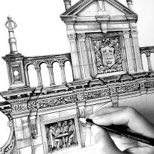 Architectural Drawings Of Famous Buildings The Intricate Architecture Oxford Univerisity Inside Simple Design
