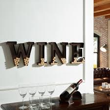 Wine Decor For Kitchen Danya B Metal Wall Mount Wine Letters Cork Holder By Danya B