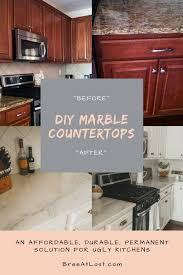 diy marble countertops permanently cover your ugly old granite or laminate