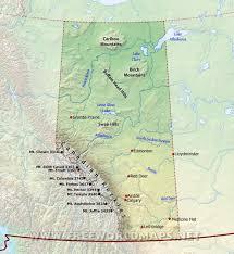 physical map of alberta