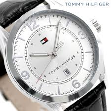 1710331 トミーヒルフィガー date calendar leather belt men tommy hilfiger watch clocks