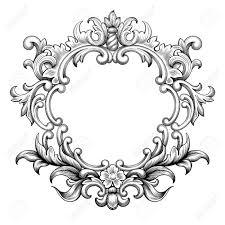 vector vintage baroque frame border leaf scroll floral ornament engraving retro flower pattern antique style swirl decorative design element black and39 antique