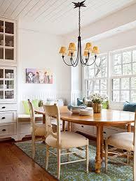 dining room floral rug bhg