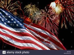 American Flag Fireworks Stock Photos American Flag
