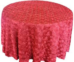 120 round satin rosette tablecloth apple red56508 1pc pk