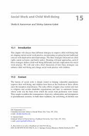 Social Work And Child Well Being Springer