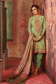 3 Piece Embroidered Suit With Cotton Silk Dupatta Alkaram