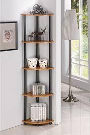 Living Room Ideas Captivating Corner Open Steel Display Shelving