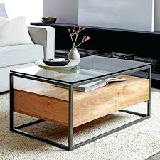 industrial storage coffee table industrial style