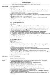 Acquisition Manager Resume Samples Velvet Jobs