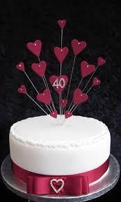 40th Wedding Anniversary Cake Ideas