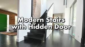 modern stairs with a closet